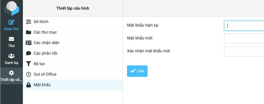 cách đổi mật khẩu trên web mail